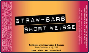 Smuttynose Brewing Co. Straw-barb Short Weisse