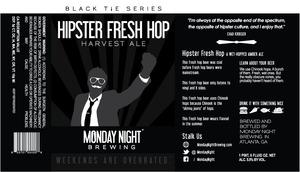 Hipster Fresh Hop Harvest Ale