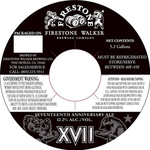 Firestone Walker Brewing Company Xvii Anniversary