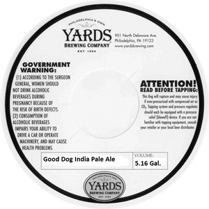 Yards Brewing Company Good Dog India Pale Ale