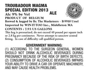 Troubadour Magma Special Edition 2013