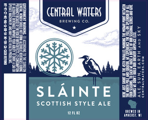 Central Waters Brewing Company Slainte Scottish Style Ale