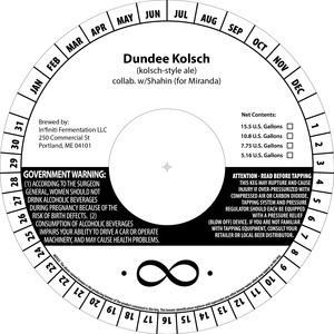 In'finiti Fermentation Dundee Kolsch