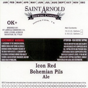Saint Arnold Brewing Company Icon Red Bohemian Pils