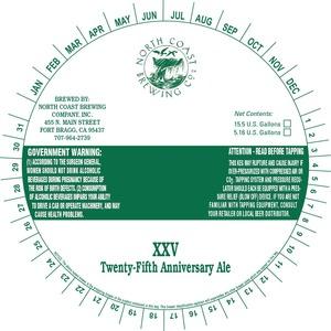 Twenty-fifth Anniversary Ale