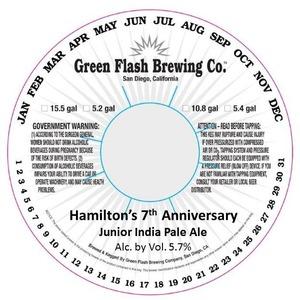 Green Flash Brewing Company Hamilton's 7th Anniversary