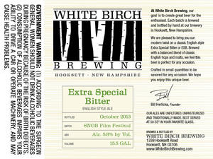White Birch Brewing Extra Special Bitters