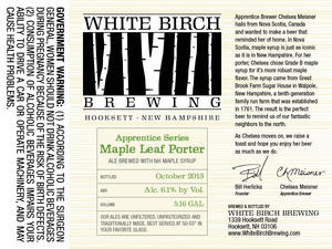 White Birch Brewing Maple Leaf Porter