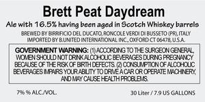 Birrificio Del Ducato Brett Peat Daydream