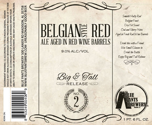 Blue Pants Brewery Belgian Style Red