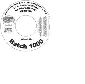 Appalachian Brewing Co Batch 1000