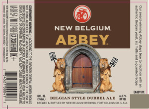New Belgium Brewing Abbey September 2013