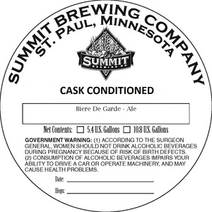 Summit Brewing Company Biere De Garde