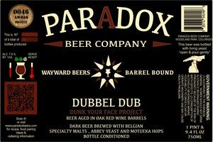 Paradox Beer Company Inc Dubbel Dub