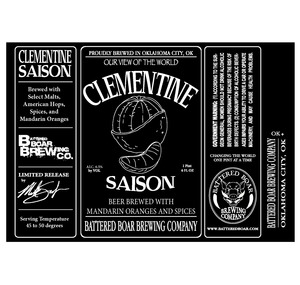 Battered Boar Brewing Company Clementine Saison
