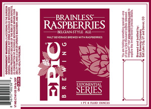 Epic Brewing Company Brainless Raspberries