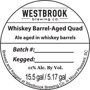 Westbrook Brewing Company Whiskey Barrel-aged Quad