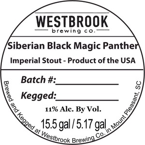 Westbrook Brewing Company Siberian Black Magic Panther