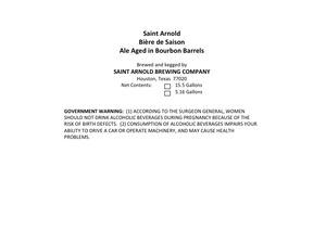Saint Arnold Brewing Company BiÈre De Saison