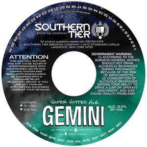Southern Tier Brewing Company Gemini