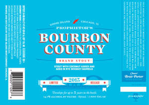Goose Island Beer Co. Proprietor's Bourbon County Brand