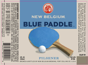 New Belgium Brewing Blue Paddle