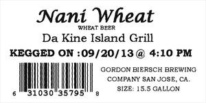 Da Kine Island Grill Nani Wheat