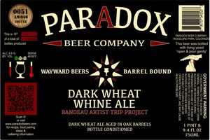 Paradox Beer Company Inc Dark Wheat Whine