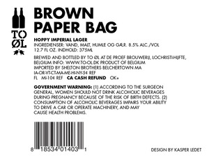 To Øl Brown Paper Bag