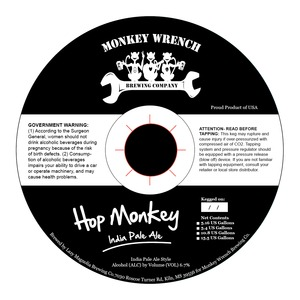 Monkey Wrench Brewing Company Hop Monkey