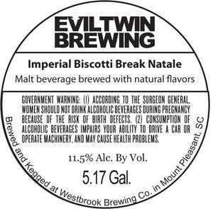 Evil Twin Brewing Imperial Biscotti Break Natale