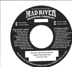 Mad River 24th Anniversary Ale Belgian Style Quadrupel
