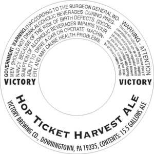 Victory Hop Ticket Harvest Ale