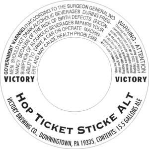 Victory Hop Ticket Sticke Alt