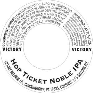 Victory Hop Ticket Noble IPA