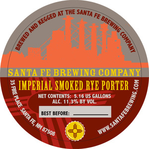 Santa Fe Brewing Co. Imperial Smoked Rye Porter