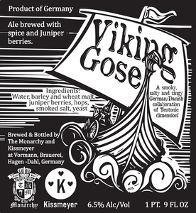 The Monarchy/kissmeyer Viking Gose