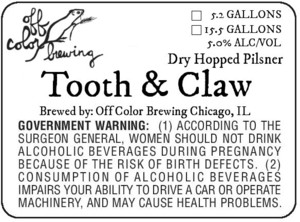 Off Color Brewing Tooth & Claw