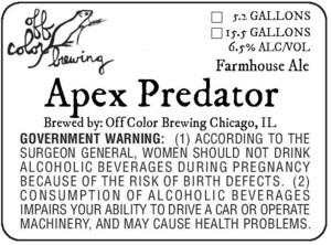 Off Color Brewing Apex Predator
