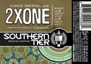 Southern Tier Brewing Company 2xone