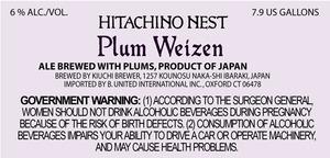 Hitachino Nest Plum Weizen
