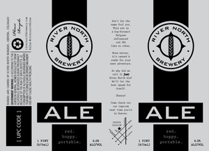 River North Brewery Ale