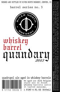 River North Brewery Barrel Series No. 3 Quandary