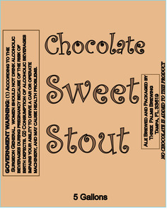 Three Palms Brewing Chocolate Sweet Stout November 2013