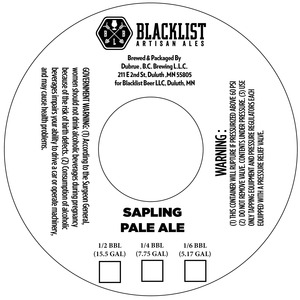 Blacklist Sapling Pale Ale