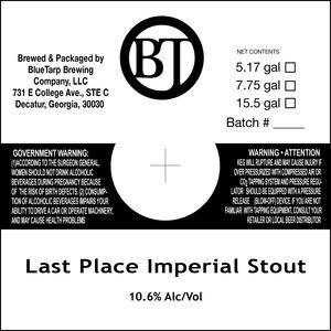 Bluetarp Brewing Co. Last Place Imperial Stout