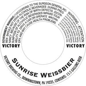 Victory Sunrise Weissbier