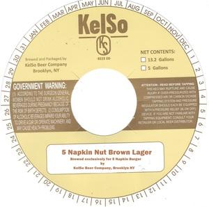 5 Napkin Nut Brown