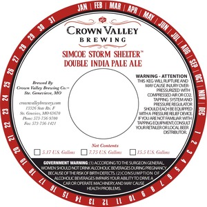 Crown Valley Brewing Simcoe Storm Shelter