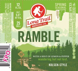 Long Trail Ramble Kolsch